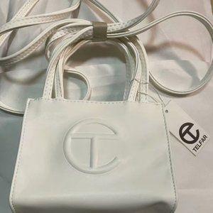 Telfar Small White Shopping Bag